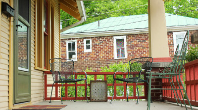Athens Cottage – front porch